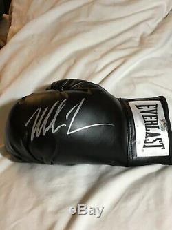 Mike Tyson Autographed Everlast Left Hand Black Boxing Glove (Tyson Hologram)