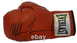 Mike Tyson Autographed/Signed Red Everlast Left Hand Glove JSA 13639