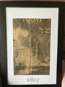 NASA Apollo 11 hand signed Neil Armstrong framed Space Coast Newspaper of Launch