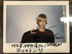 NCT127 Yuta authentic hand-signed Polaroid autographed signed NCT