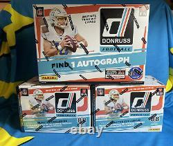 NEW! 2021 DONRUSS FOOTBALL NFL MEGA BOX AND 2 BLASTER BOX LOT In Hand AUTO