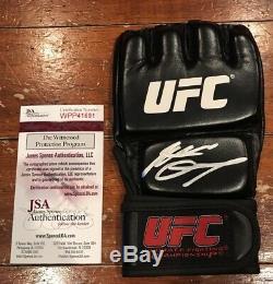 Nate Diaz Autographed Left Handed Glove UFC MMA Witness JSA Authentication