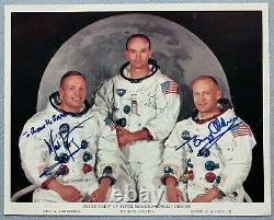 Neil Armstrong Buzz Aldrin Michael Collins Hand-Signed Apollo 11 NASA Photograph