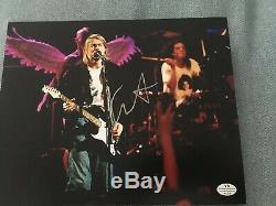 Nirvana Kurt Cobain Hand Signed Autographed 8X10 Photo with COA