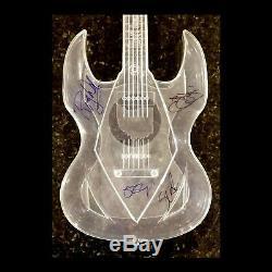 OZZY, SLASH, ROGER WATERS & JON BON JOVI Hand Signed Air Guitar Autographs + COA