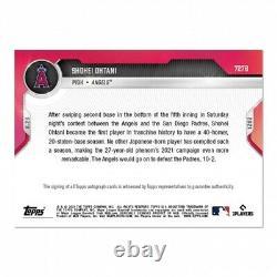 On-Card Auto # /49 Shohei Ohtani 2021 MLB TOPPS NOW Card 727B Presale