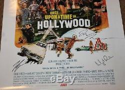 Once Upon A Time Hand Signed Autograph Poster Brad Pitt Leonardo Dicaprio