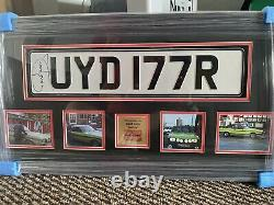 Only Fools and Horse Full Size Numberplate Framed Hand Signed by David Jason COA