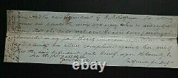 Original Authentic Signed Partial Document Ca 1852 Signed In Lincoln's Hand Coa