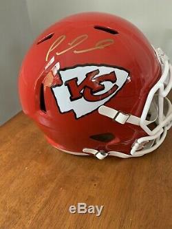 Patrick Mahomes Hand Signed Autographed Kansas City Chiefs Full Size Helmet Coa