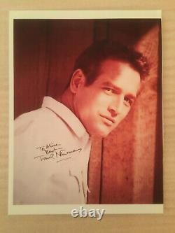 Paul Newman, vintage headshot photo with authentic hand-signed AUTOGRAPH & COA
