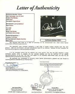 Paul Stanley Kiss Hand Signed 38 Lyon Washburn Guitar JSA LOA #Y02671 Autograph