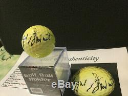 Payne Stewart Autograph Golf Ball & Display JSA LOA COA Hand Signed Auto