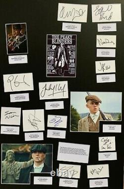 Peaky Blinders, Cillian Murphy, Tom Hardy Hand Signed