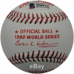 Pete Rose Hand Signed Autographed 1980 World Series Baseball WS Champs Beckett