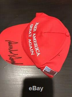 President Donald Trump Autographed Hand Signed Make America Great Again Hat