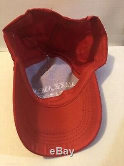 President Donald Trump Hand Autographed Red Maga Hat Guaranteed Authentic