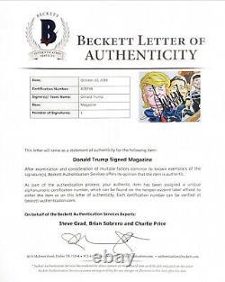 President Dondald Trump Hand Signed Magazine Beckett Encapsulated With Loa Rare