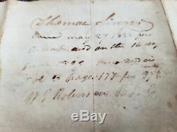 President James Monroe BOLDLY HAND SIGNED Presidential 1819 document