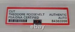 President Theodore Teddy Roosevelt Progressive Party Hand Signed Card PSA/DNA