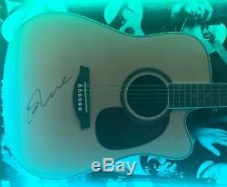 RARE Framed Ed Sheeran Hand Signed Guitar + x ÷ With Photo and COA