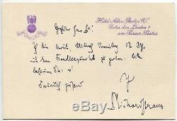 RICHARD STRAUSS, orig. Autograph, Briefkarte Hotel Adlon, hand signed