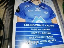 ROOKIE Erling braut haaland hand Signed officiel Molde FK Autograph card 2018