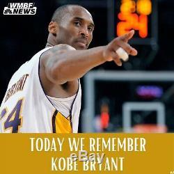 Rare Kobe Bryant Hand Signed Autographed Black Mamba Jersey LA Lakers With COA