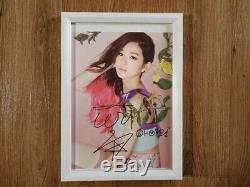 Red Velvet 2015 SM Official Autographed Hand Signed IRINE, JOY, WENDY, SEULGI