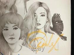 Red Velvet autographed Ice Cream Cake Promotional Poster hand-signed