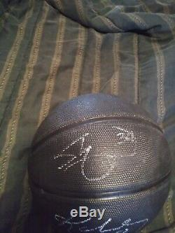 Shaquille Oneal/Kobe Bryant hand signed And1 Basketball Autographed Lakers