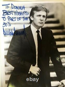 Sharpie Signature President Donald Trump Hand Signed Photo Autographed To Donna