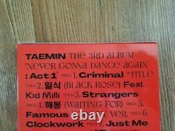 Shinee TAEMIN Promo Album Autographed Hand Signed