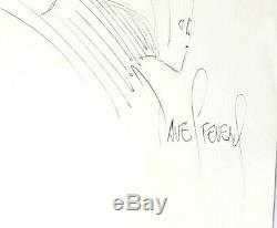 Signed Hand-drawn The Rocketeer Dave Stevens Helmet Comic Sketch Art Autograph