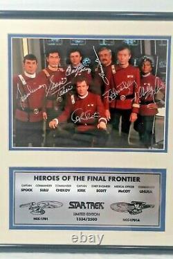 Star Trek Cast Heroes Of The Final Frontier Hand Signed Photo 1334/2500 COA NEW