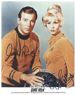 Star Trek Tos Autograph Photo William Shatner Grace Lee Whitney Hand Signed Kirk