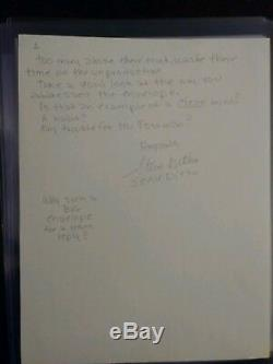 Steve Ditko Autographed Signed Hand Written letter 2 pages