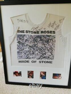 Stone Roses T Shirt Hand Signed By The Band