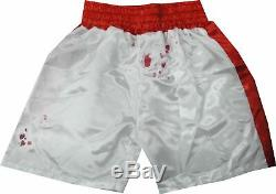 Sylvester Stallone Hand Signed Autographed Red/White Boxing Shorts Rocky OA COA