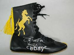 Sylvester Stallone Hand Signed Boot Autographed Black/Yellow Boxing Shoe OA COA