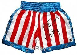 Sylvester Stallone Hand Signed Officially Licensed Rocky IV Shorts Rare Aftal