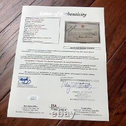 THOMAS EDISON JSA LOA Hand Signed Autograph Red Cross WWI Fund Card