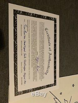 TIM BURTON Hand Signed Autographed JACK SKELLINGTON Original Art withCOA