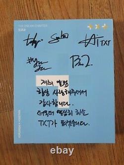 TXT Promo Album Autographed Hand Signed