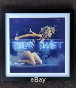 Taylor Swift 1989 Live Neon Lithograph Framed & Hand Signed Autographed 22x22