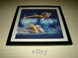 Taylor Swift Hand Signed 1989 Framed Lithograph Red 22x22 Music Photo Autograph