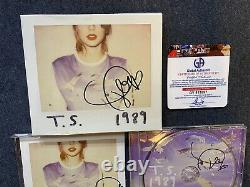 Taylor Swift Hand Signed 3x 1989 CD Autograph Coa Gai Rare