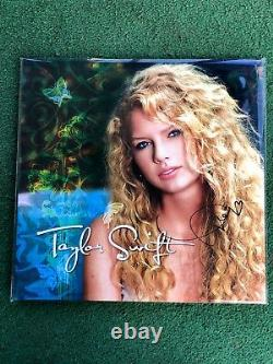 Taylor Swift Hand Signed Turquoise Vinyl Autograph Authentic Sold Out