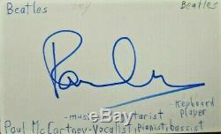 The Beatles / Paul Mccartney / Genuine Hand-signed Autograph / Jsa Full Letter