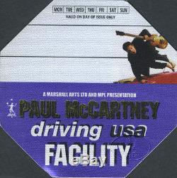 The Beatles / Paul Mccartney / Hand Signed Autograph /2002 Driving USA Tour